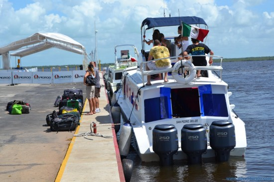 ferry 550x366 Go from Tulum (Mexico) to Caye Caulker/San Pedro (Belize) by bus and boat mexico destinations blog belize  Tulum Travel Tips Islands Adventure