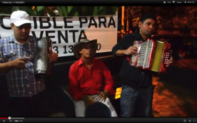Vallenato in the streets of Medellin, Colombia