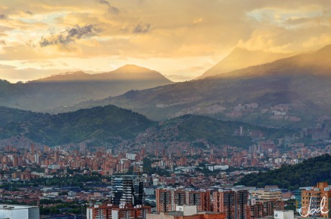 Medellin-Colombia-At-Sunset
