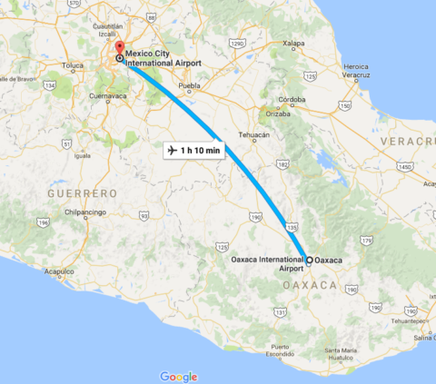 how to go from oaxaca to puerto escondido by bus or by plane