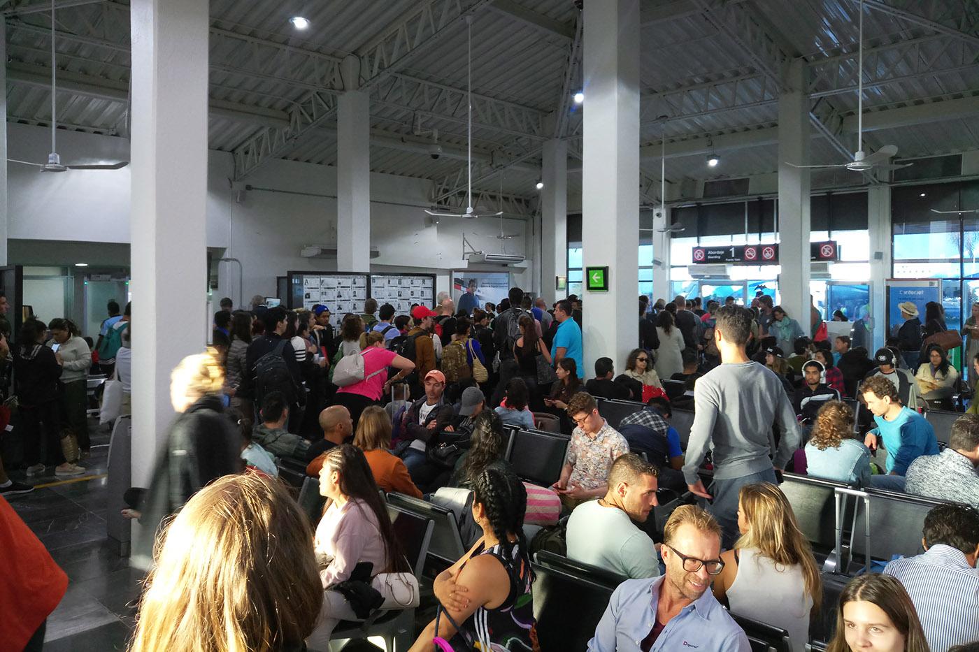 inside puerto escondido airport waiting area
